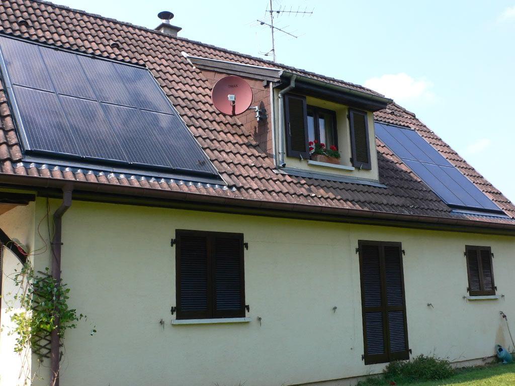 Intégration de panneaux photovoltaïques sur un bâtiment existant