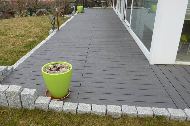 Terrasse en lames bois composite