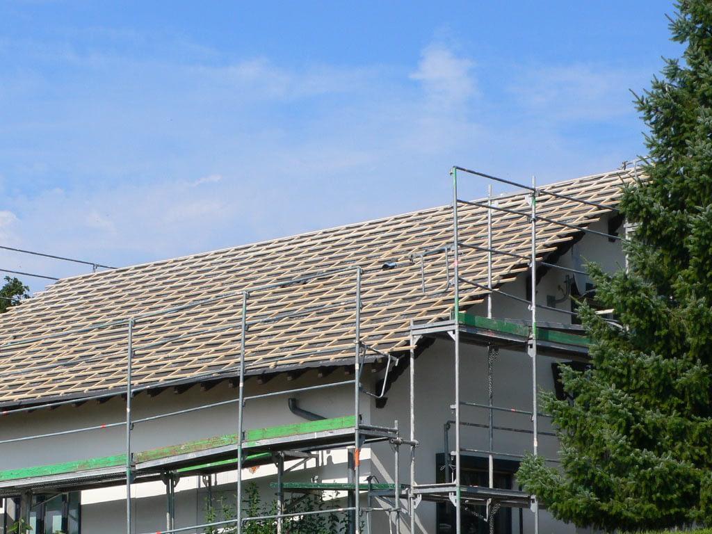 Rénovation toiture. Avant pose des tuiles
