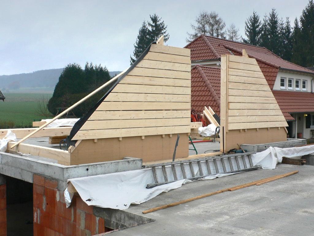 Construction bois. Toit