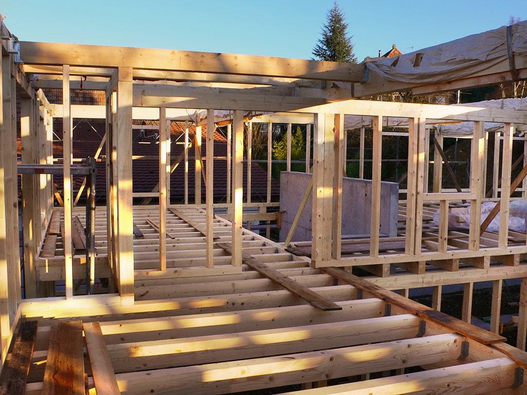 Construction ossature bois.